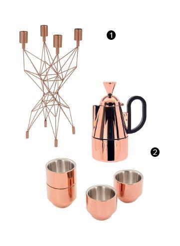 1. Chân nến Pylon; 2. Bình pha cà phê và ly Espresso.
