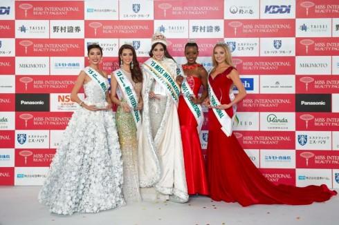 Các nhan sắc chiến thắng tại cuộc thi Hoa Hậu Quốc Tế 2015