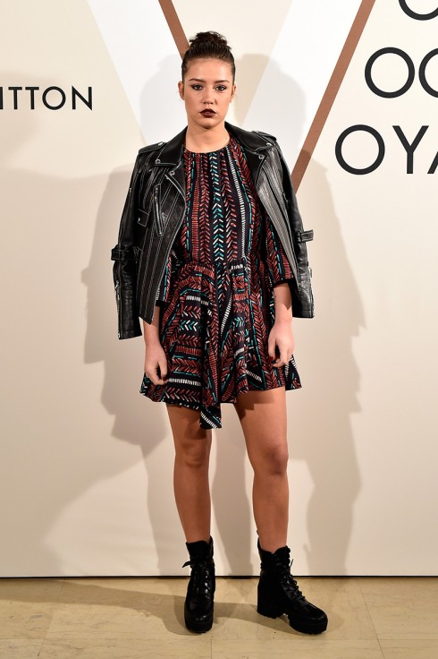 Adele Exarchopoulos<br/>PARIS, FRANCE - DECEMBER 03:  Adele Exarchopoulos attends the 'Volez, Voguez, Voyagez - Louis Vuitton' Exhibition Opening at Le Grand Palais on December 3, 2015 in Paris, France.  (Photo by Rindoff/Le Segretain/Getty Images for Louis Vuitton) *** Local Caption *** Adele Exarchopoulos
