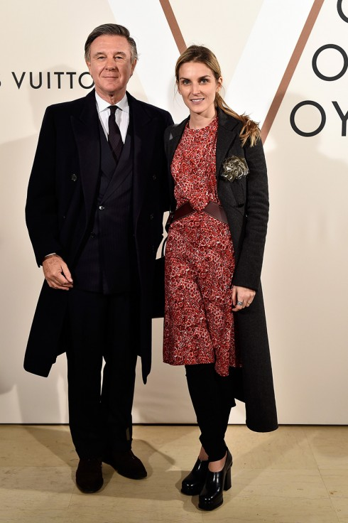 Alberto Repossi và Gaia Repossi <br/>PARIS, FRANCE - DECEMBER 03:  (L-R) Alberto Repossi and Gaia Repossi attend the 'Volez, Voguez, Voyagez - Louis Vuitton' Exhibition Opening at Le Grand Palais on December 3, 2015 in Paris, France.  (Photo by Rindoff/Le Segretain/Getty Images for Louis Vuitton)