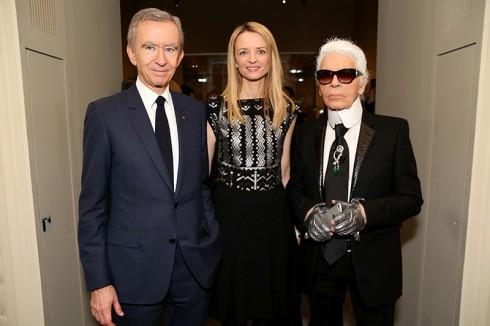Bernard Arnault, Delphine Arnault, Karl Lagerfeld
