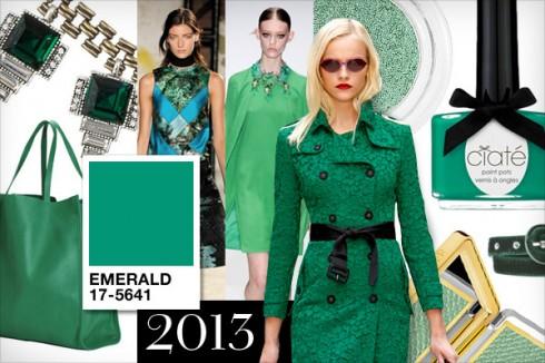 Màu sắc tuyệt đẹp của xanh ngọc lục bảo (Emrald) chiếm lĩnh thị trường thời trang và làm đẹp năm 2013