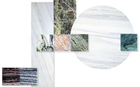 Mảng màu đa dạng từ những chế tác đá Marble của Vivek Chaudhary. Màu xanh đang là xu hướng tiêu dùng phổ biến trong trang trí nội thất.
