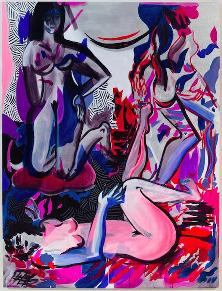Tác phẩm Blood Moon (2015) của Mira Dancy