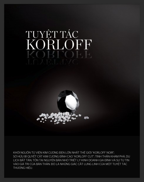 Korloff  Noir là viên kim cương đen duy nhất trên thế giới nặng 88 cara với những mặt cắt rực rỡ.