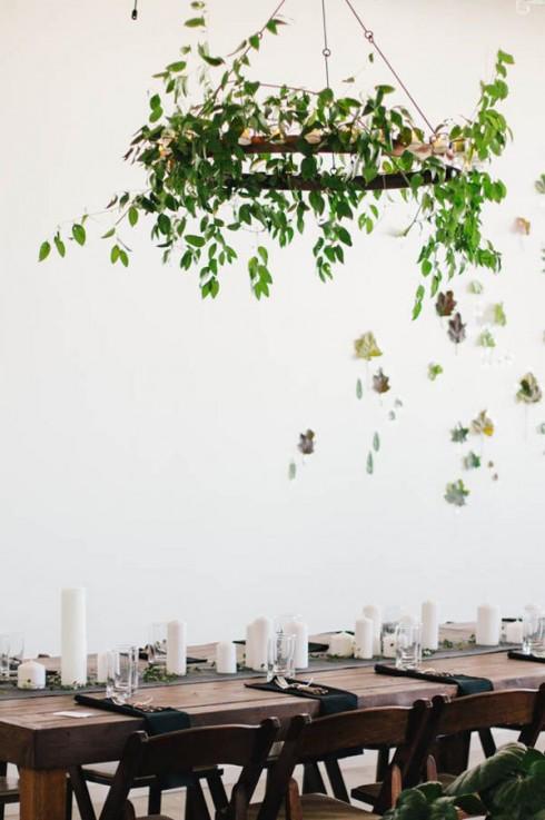 Bàn tiệc mang phong cách Eco đem đến sự mới lạ cho mùa Giáng Sinh.