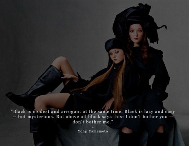 Màu đen và những câu nói hay