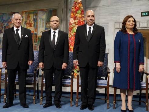 Giải Nobel Hòa bình năm 2015 thuộc về Bộ Tứ Dối Thoại Quốc Gia Tunisia, vì những nỗ lực của nhóm này trong việc kiến tạo hòa bình và dân chủ tại Bắc Phi sau cuộc khởi nghĩa Jasmine năm 2011