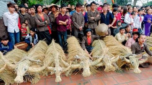 """Bộ tác phẩm """"Lễ hội Trâu rơm bò rạ"""" của nhà nhiếp ảnh lão thành Phạm Ánh đã xuất sắc vượt qua 15 bộ ảnh lọt vào chung kết để giành giải thưởng cao nhất của cuộc thi."""