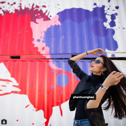Phạm Hương trên Instagram chính thức của Miss Universe 2015