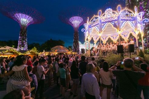 Khung cảnh tuyệt đẹp của khu vui chơi giải trí mới tại Singapore
