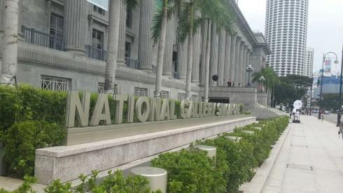 Kiến trúc National Galary Singapore nhìn từ phía ngoài