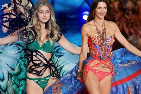 Nếu Anna Ewers được lòng giới chuyên gia thời trang, Gigi Hadid (trái) và Kendall Jenner (phải) là hai gương mặt được nhiều số phiếu bình chọn nhất từ đọc giả cho hạng mục Người mẫu của năm.