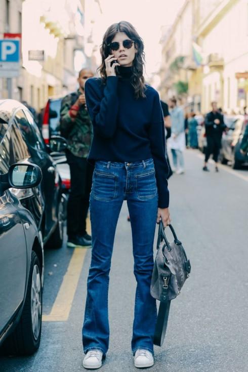 Quần jeans cũng giống áo thun, đều mặc được trong tất cả các mùa thời trang.