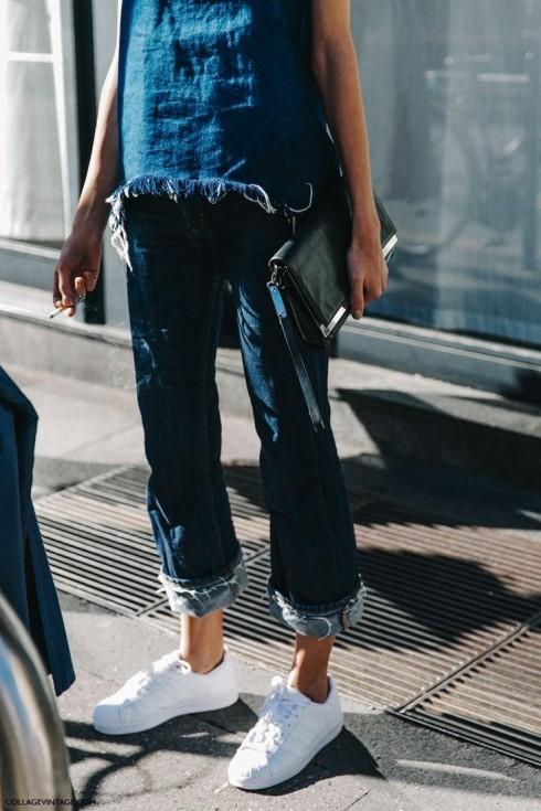 Bạn nên chú ý tỷ lệ cân bằng của giày với độ dài ống quần.