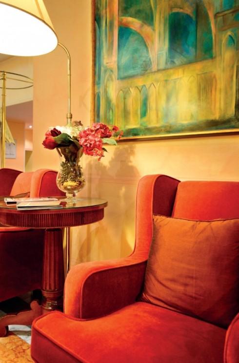 Không gian nghệ thuật - nơi phô diễn vẻ đẹp đường nét, màu sắc của kiến trúc, tranh ảnh, bàn ghế,...