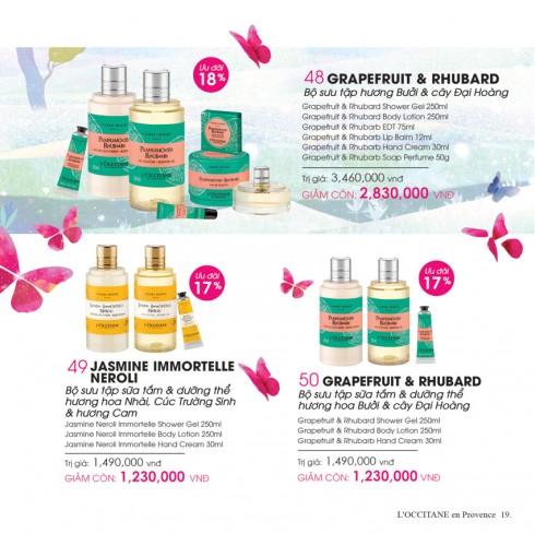 Bộ sản phẩm dưỡng da hương Bưởi và cây Đại Hoàng tăang cường dưỡng chất cùng mùi hương tươi mát vùng Corsica.