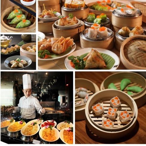 """bữa ăn tự chọn đặc biệt """"Đông Tây Hội Ngộ"""" gồm hơn 80 món dim sum vô cùng hấp dẫn"""