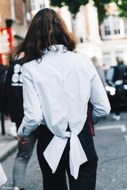 Bạn có thể cách tân những chiếc áo sơ mi của mình theo các kiểu độc đáo nhất.