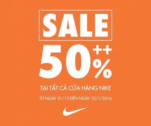Thương hiệu Nike giảm giá 50%