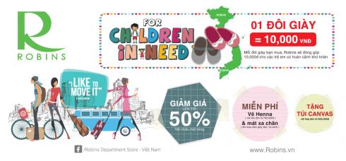 Chung tay cùng Trung tâm mua sắm Robins trao quà yêu thương đầu năm đến trẻ em có hoàn cảnh khó khăn