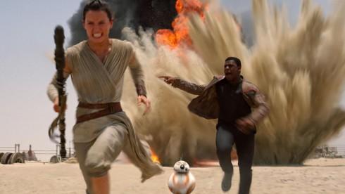 Một cảnh gay cấn trong bộ phim Star Wars: The Force Awakens