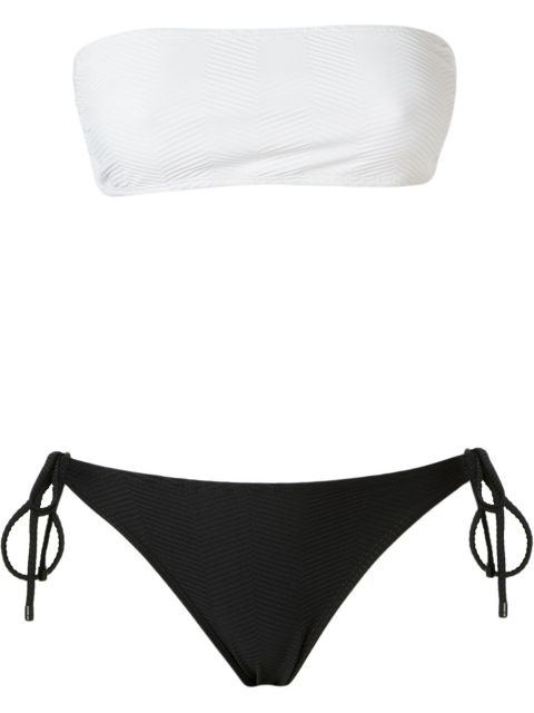 Osklen Bandeau Textured Bikini Set ( farfetch.com )