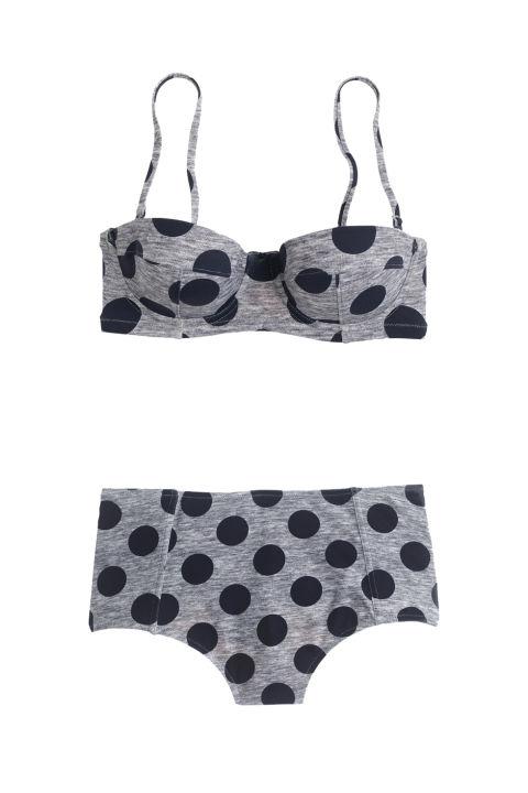 J. Crew Grey Dot Underwire Bikini Top (jcrew.com)