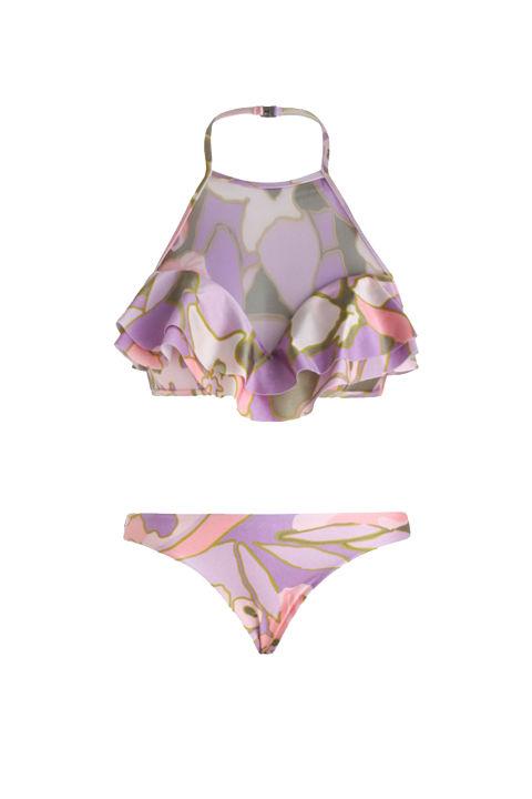 Zimmermann Lotte Frill Halter Bikini (zimmermannwear.com)