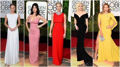 Các người đẹp khoe dáng tại thảm đỏ giải Quả Cầu Vàng 2016