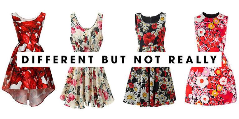 Hãy cân nhắc nếu như bạn có đến 6 chiếc đầm hoa trong tủ quần áo.