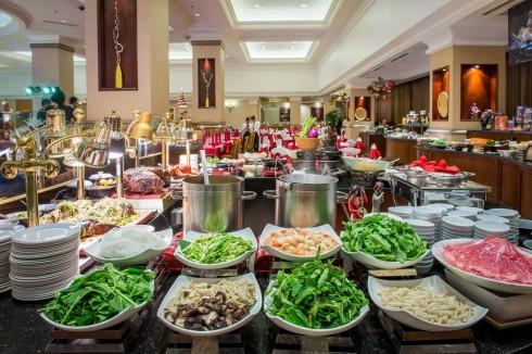 Bữa ăn đầu năm với các món ăn đặc sắc.
