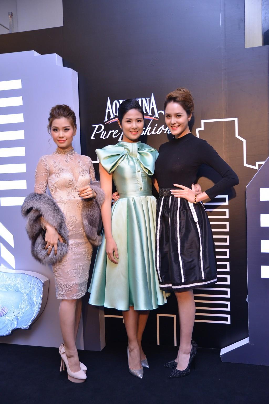Hoa hậu Ngọc Hân, Á hậu Tú Anh, Á hậu Diễm Trang góp mặt trong đêm Chung kết Aquafina Pure Fashion 2015