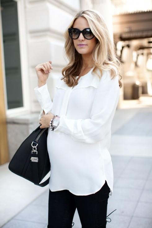 Mặc màu trắng giúp cơ thể trông thon gọn hơn.