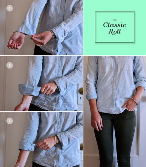 Cách vén tay áo cơ bản