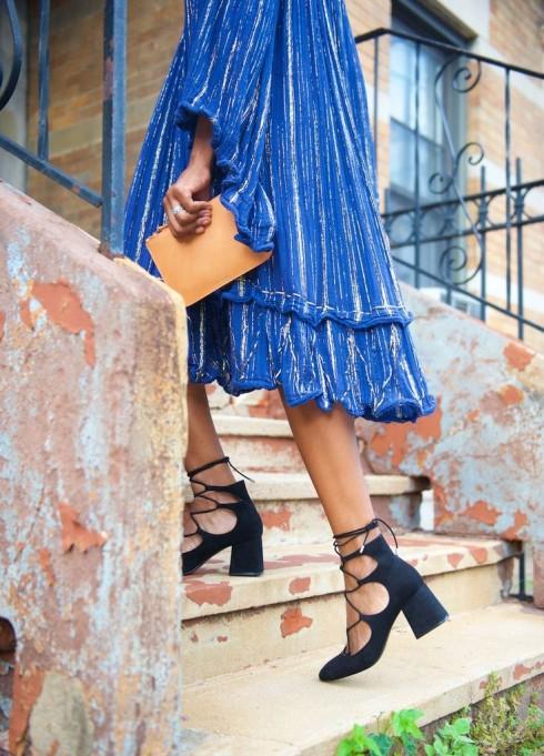 Xu hướng thời trang mới: Giày nữ đế loe 5
