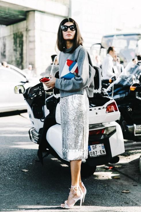 Cách đơn giản nhất để tạo điểm nhấn: Tận dụng sự khác biệt trong chất liệu của các trang phục bạn mặc.
