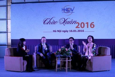 2.Diễn đàn Nữ doanh nhân mùa Xuân 2016 với sự góp mặt của các vị khách mời: Ông Haike Maning - đại sứ NewZealand, Ông Vũ Tiến Lộc – Chủ tịch Phòng TM và CN Việt Nam.