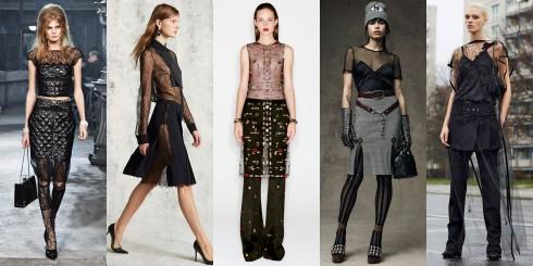 Từ trái sang: Chanel, Micheal Kors, Alexander McQueen, Alexander Wang, Givenchy