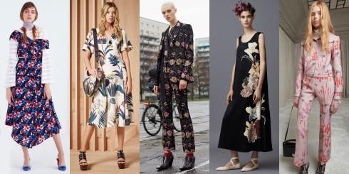 Từ trái sang: Tanya Taylor, Tory Burch, Givenchy, Valentino, Giambattista Valli
