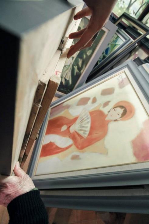 Phòng tranh của họa sĩ Hồ Quảng và Phan Thị Hà.