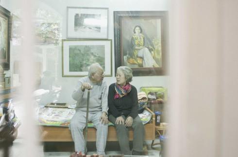 Câu chuyện tình yêu trọn một đời của cụ Hà và cụ Quảng.
