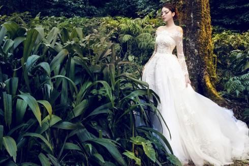 Hoa hậu Kỳ Duyên lung linh trong váy cưới ở Ba Vì 01 ELLE VN