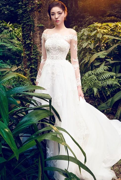 Hoa hậu Kỳ Duyên lung linh trong váy cưới ở Ba Vì 03 ELLE VN