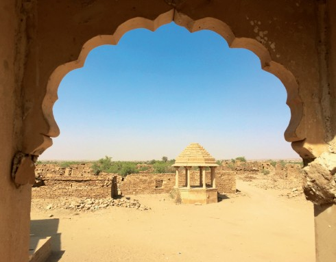 Một góc thành Jaisalmer, địa điểm với các công trình được xây dựng từ thế kỉ 12