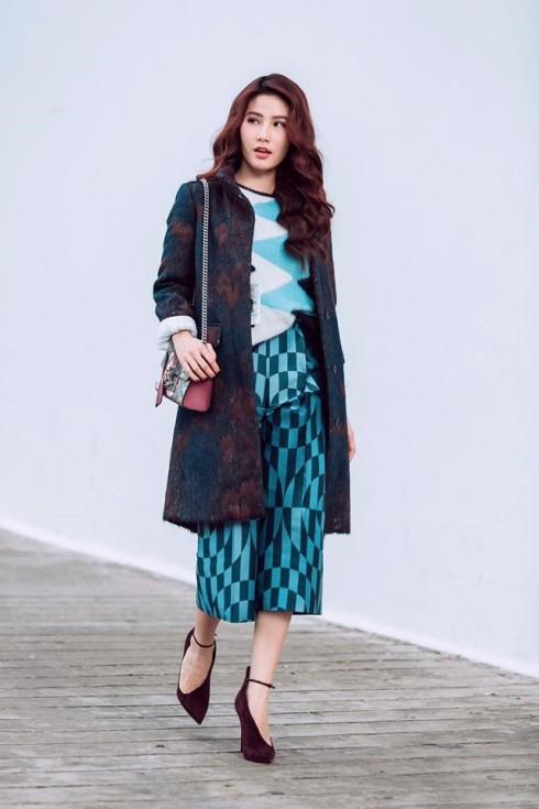 Diễm My xinh đẹp trong trang phục của thương hiệu MAX&Co.
