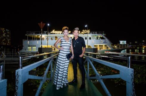 Siêu mẫu Hoàng Yến cùng DJ Kaiser tham dự trong vai trò khách mời của Fashion TV