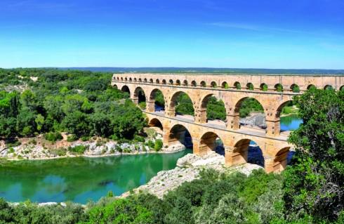 Cầu Pont du Gard Aqueduct tại Pháp