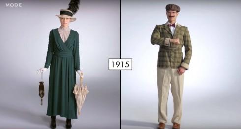 Xu hướng thời trang cho nam và nữ từ những năm 1910s