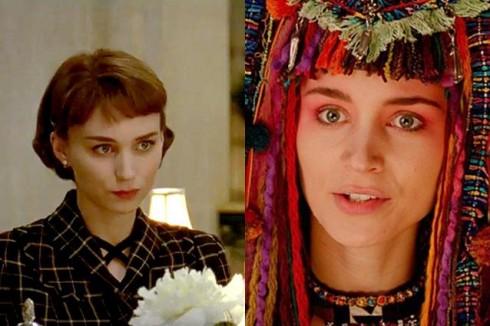 Rooney Mara trong phim Carol (trái) và phim Pan (phải)